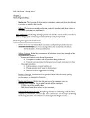 BUS 348 Exam 1 Study sheet.docx