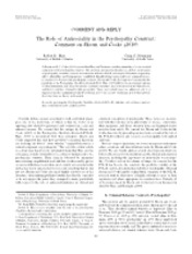 The Role of Antisociality in the Psychopathy Construct