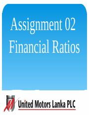 Financial Accounting - Assignment 02 - United Motors Lanka  PLC.pptx