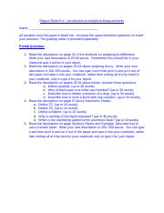 Lab 1 Report Sheet For Introduction to Analytical Measurements (1).docx