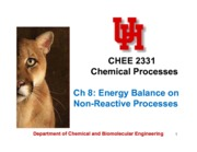 Ch8 Energy Balance on Non-Reactive Processes - class notes updated