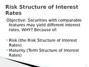 FIN 301_6_Risk Structure of Interest Rates