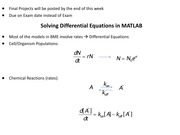 lecture 18 - Differential Equations