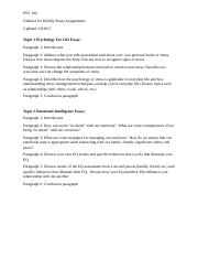PSY 100-Outlines For Weekly Essays (1).docx