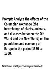 2017 Discussion Questions Columbian Exchange.pptx