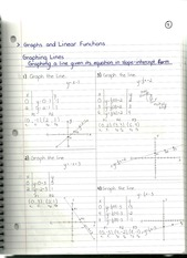MAT 1033 Graphs and Linear Equations