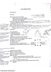 exam 1 study guide and notes