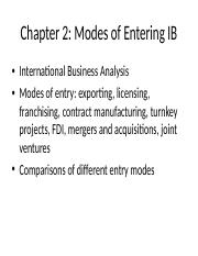 Chapter 2 Modes of Entry.ppt