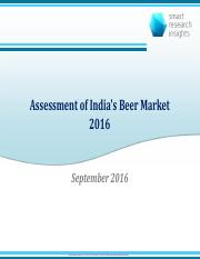 Assessment of India s Beer Market 2016