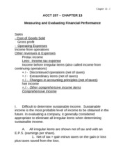 CH13 Measuring and Evaluating Finl. Perf.09F