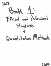 Schwezer - CFA 2017 Book 1 - Ethics and Quant