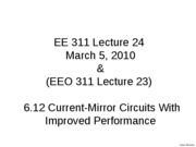 Lecture 24 Current Mirrors with Improved Performance_1