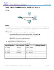 2.2.4.10 Packet Tracer - Lab 9