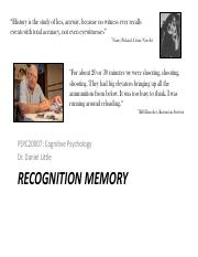 Lecture 2 - Recognition memory.pdf