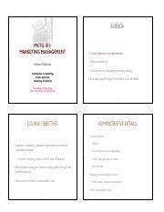 MKTG 101 - Introduction handouts