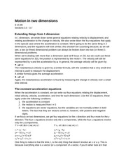 PY105(5): Motion in two dimensions