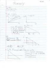 ECON 1101 Monoply Notes