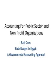 Part One-State Budget in Egypt