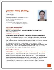 Resume by Jiayao