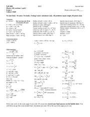 exam 1 - Fall 2009 - solutions