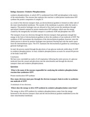 biology classnotes: Oxidative phosphorylation