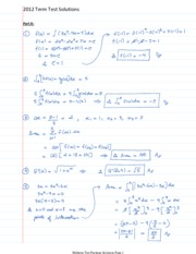 Term Tests 2015 Solutions