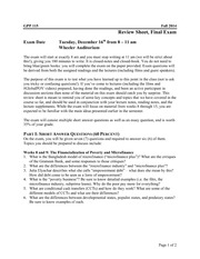Global Poverty and Practice 115: Final Exam Review Sheet