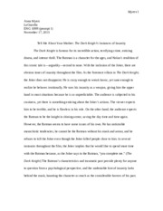 research paper dark knight