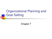 Organizational Planning and Goal Setting