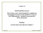 ECE3080-L-12a-MOSCAP and MOSFETs