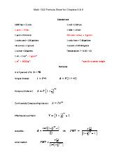 Formula Sheet for Chapters 8 & 9 (1)