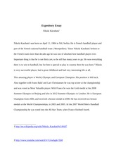 Expository essay English