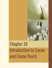 20. Introduction to Cocoa and Cocoa Touch.ppt