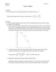 Exam 1 - Oehrtman - Fall 2010 - Solutions