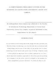 computerized enrollment system documentation