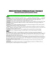 PROJ 410 Week 4 Midterm Exam 2 (MCQs & Short Essay).doc