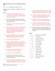 questions and answers on french revolution 83 short answer type questions on the french revolution 1 what do you understand by the word 'revolution' the term 'revolution' means a recognisable.