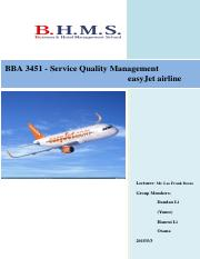 BBA 3451 - Service Quality Management