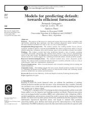 Models for predicting default towards efficient forecasts.pdf