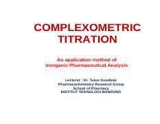 05. COMPLEXOMETRIC TITRATION