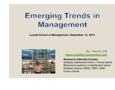 Emerging trends in management
