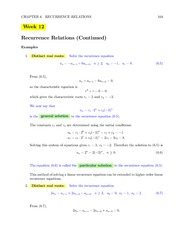 MATH 222 Week 12 Lecture Notes
