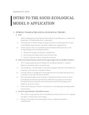 NOTES_Intro to the socio-ecological model & application .docx
