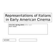 Itailan and Early American Cinema