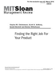 Finding the Right Job for Your Product.pdf