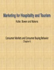 tourism marketing CH6