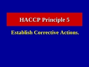 Lecture 18 The HACCP Concept