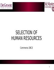 2BC3-Fall 2016-Lecture 5b-Selection
