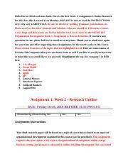 mgmt_603_organization_development_week_1_assignment_two_research_outline