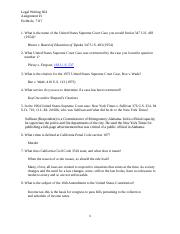 Legal Writing 604, Assignment #1, Q&A.docx